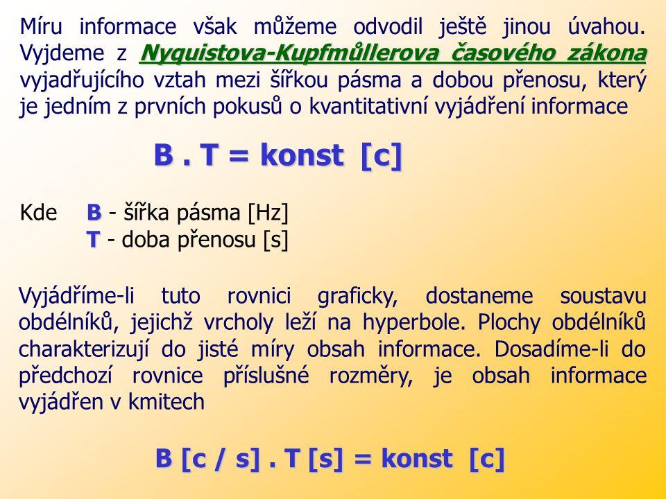 B . T = konst [c] B [c / s] . T [s] = konst [c]